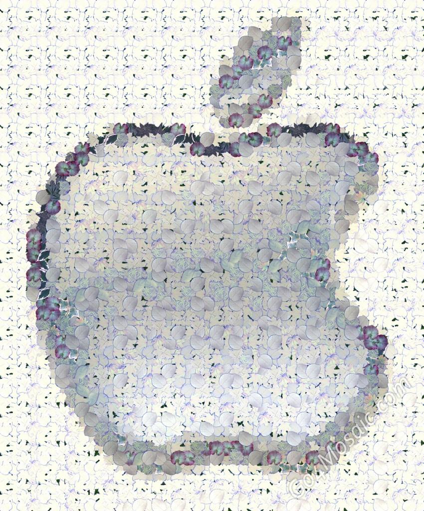 Apple logo from Leaves