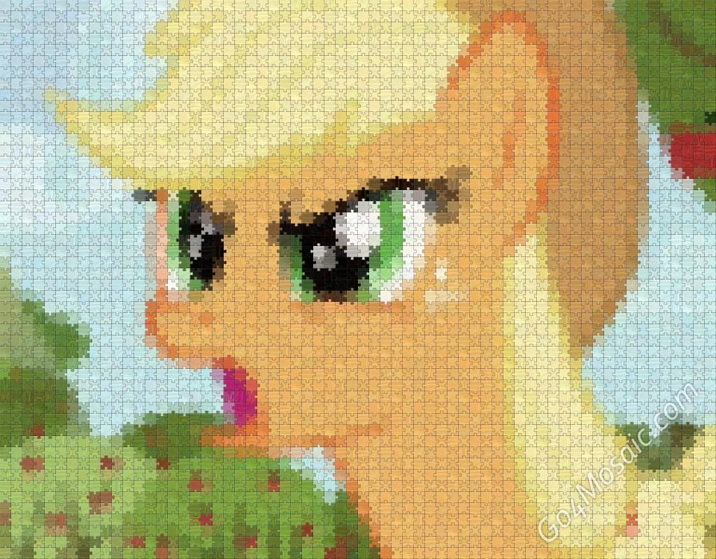 Applejack mosaic from Wooden Jigsaw