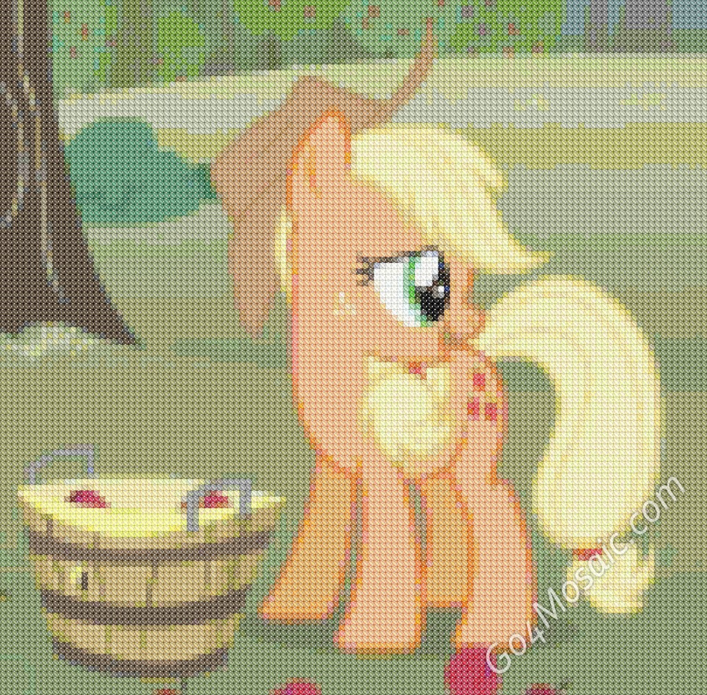 Cross-stitched Applejack