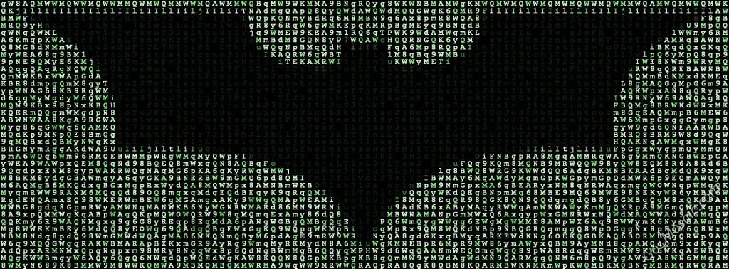 Batman Logo from Matrix Letters