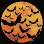 Halloween Bats mosaic from Lego Brick