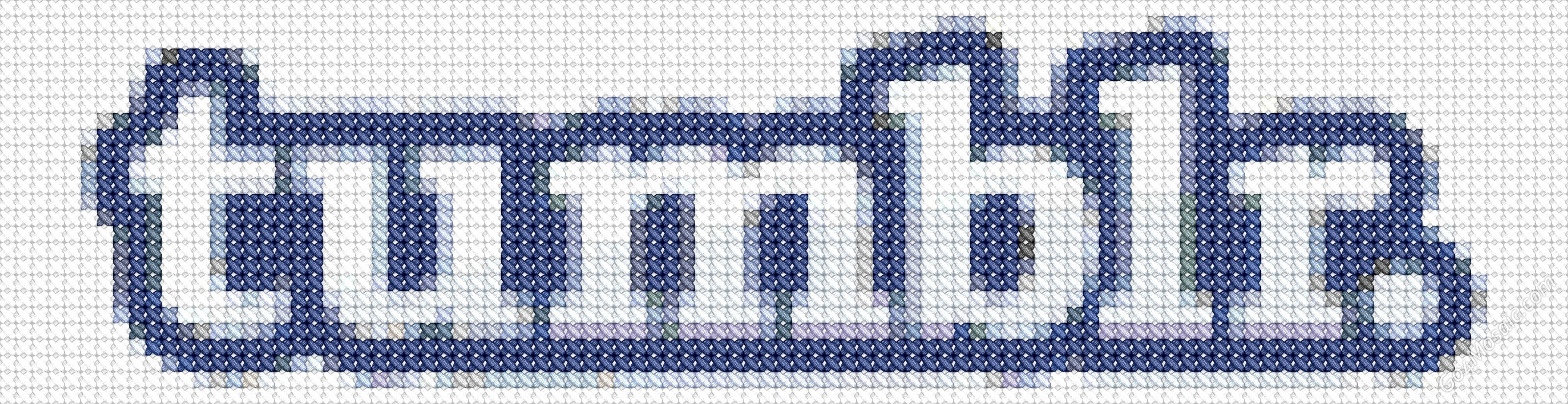 Cross-stitched tumblr logo