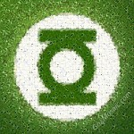 Green Lantern mosaic from Leaves