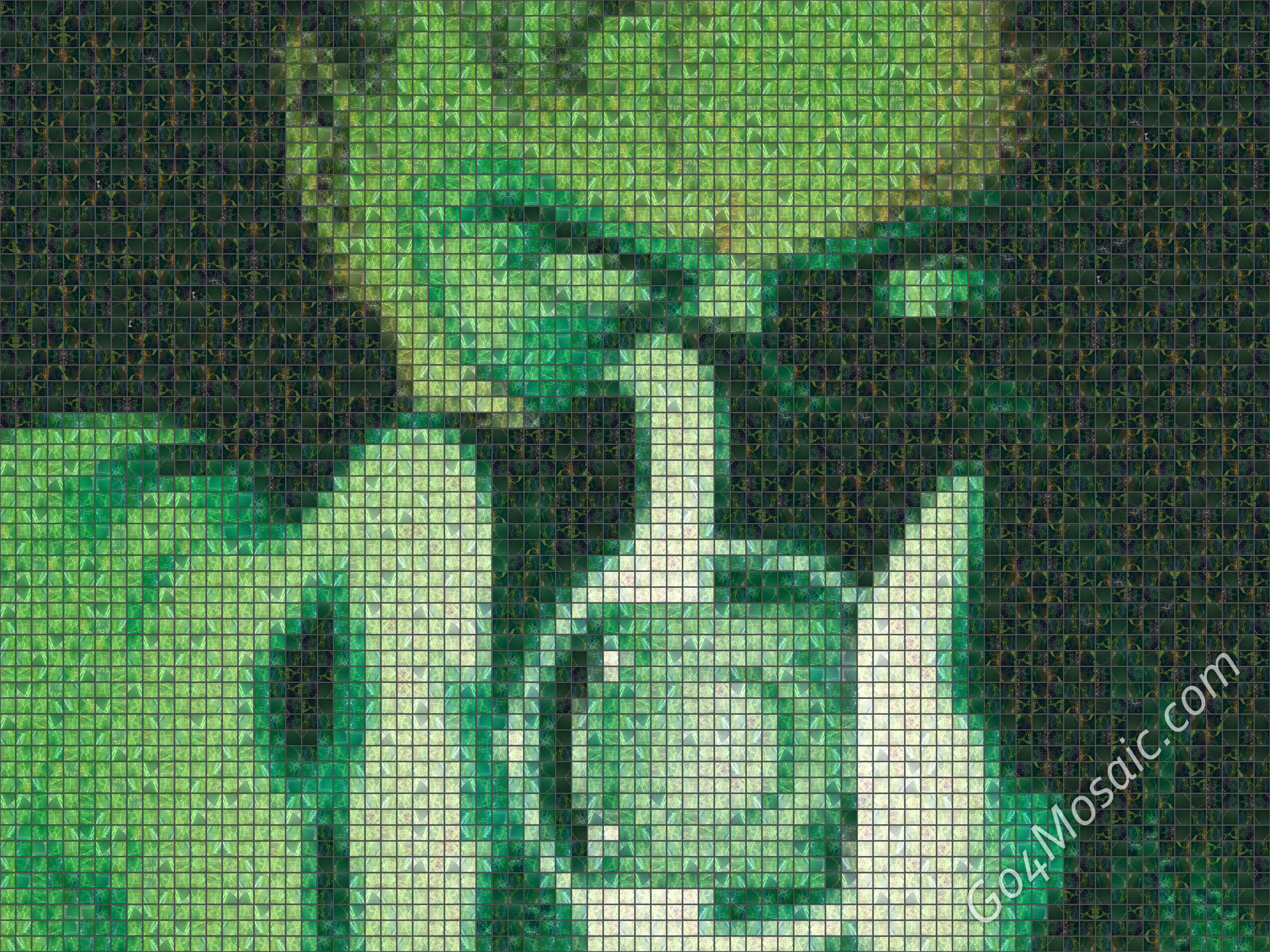 Green Lantern mosaic from Marble