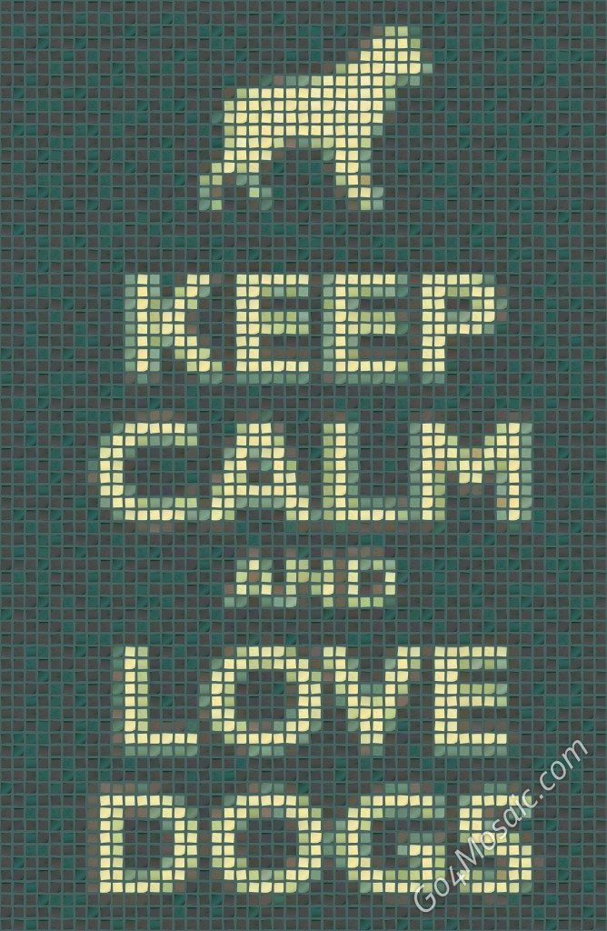 Keep Calm and Love Dogs Poster from Postits