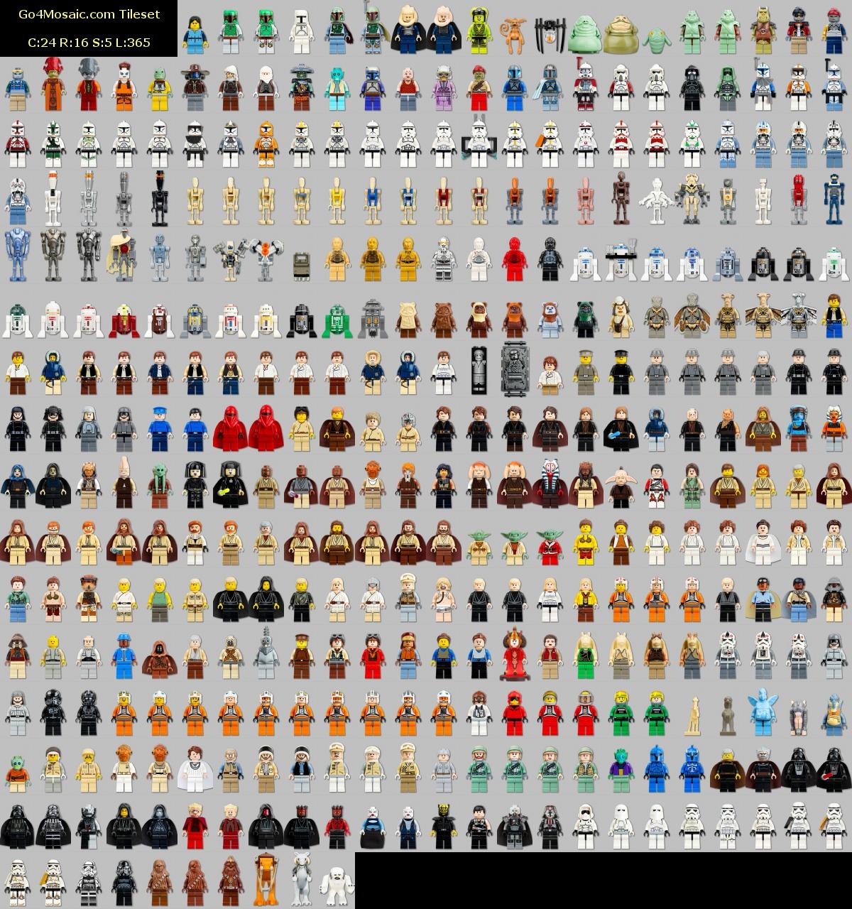Photo mosaic from Lego Star Wars Figures - Go4mosaic Blog