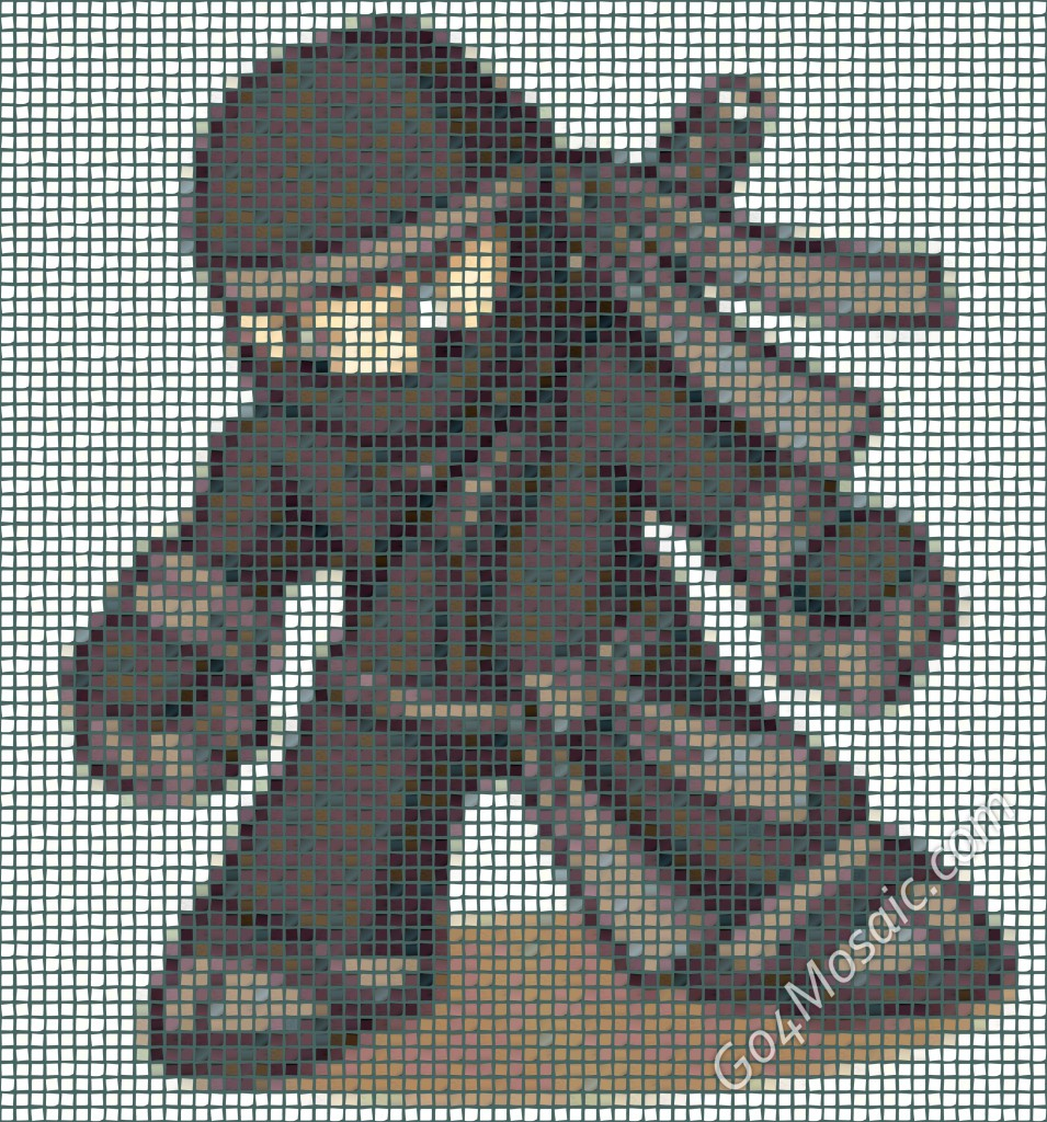 Mini Ninja mosaic from Postits