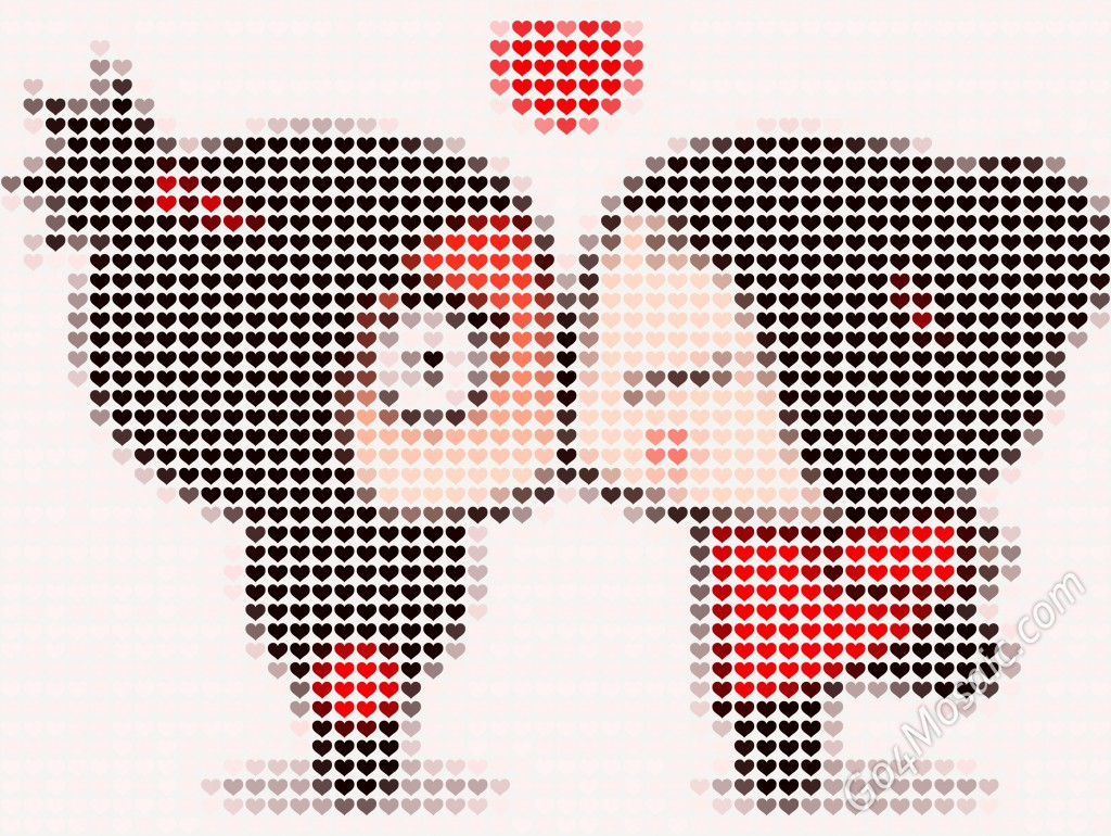 Pucca Mosaic from Hearts