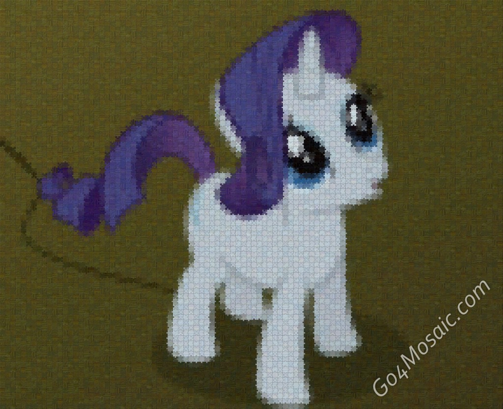 My Little Pony: Rarity mosaic from Wooden Jigsaw