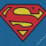 Superman Logo mosaic from Marble