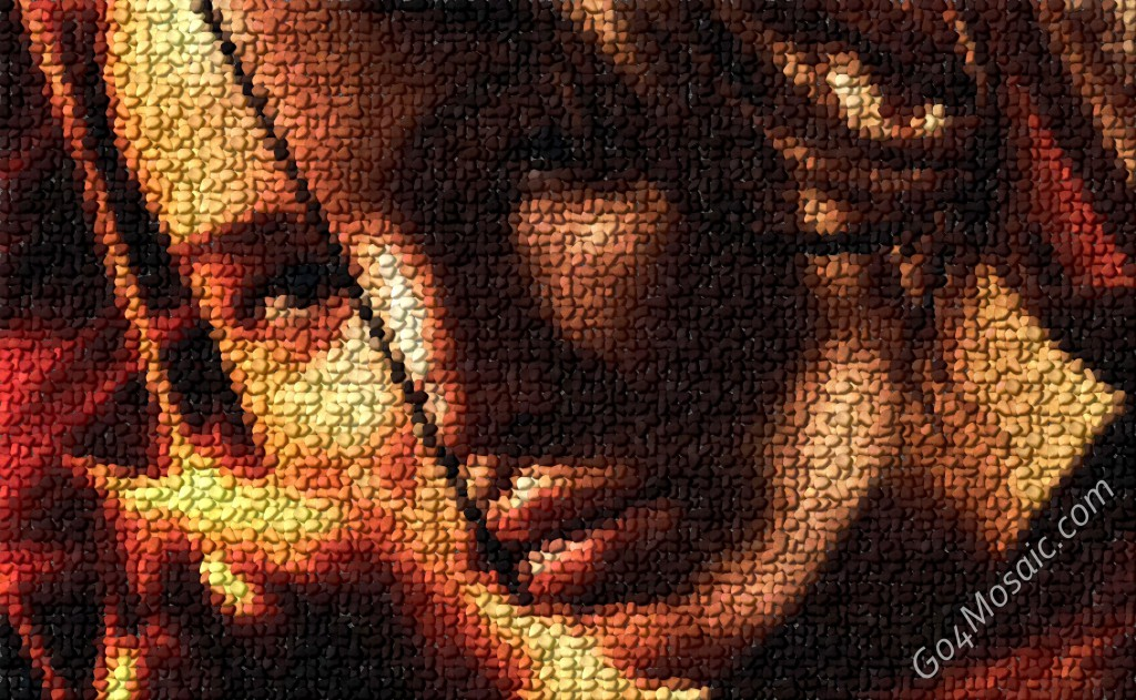 The Hunger Games mosaic from Pebbles