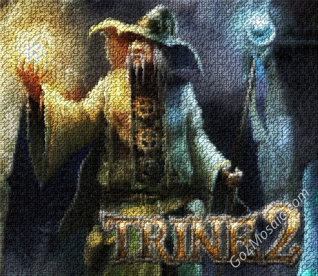 Trine 2 mosaic from Pebbles