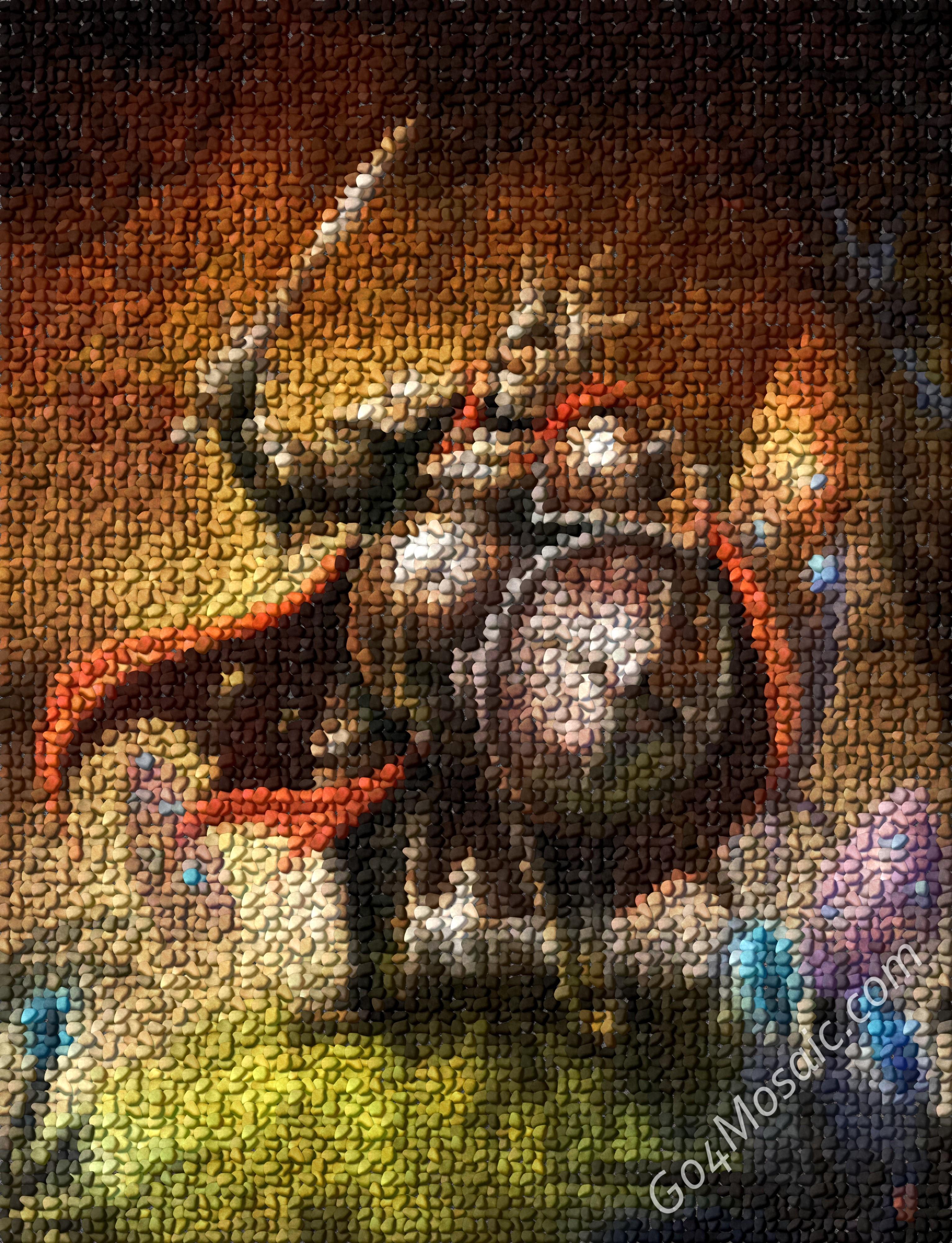 Trine Pontius mosaic from Pebbles