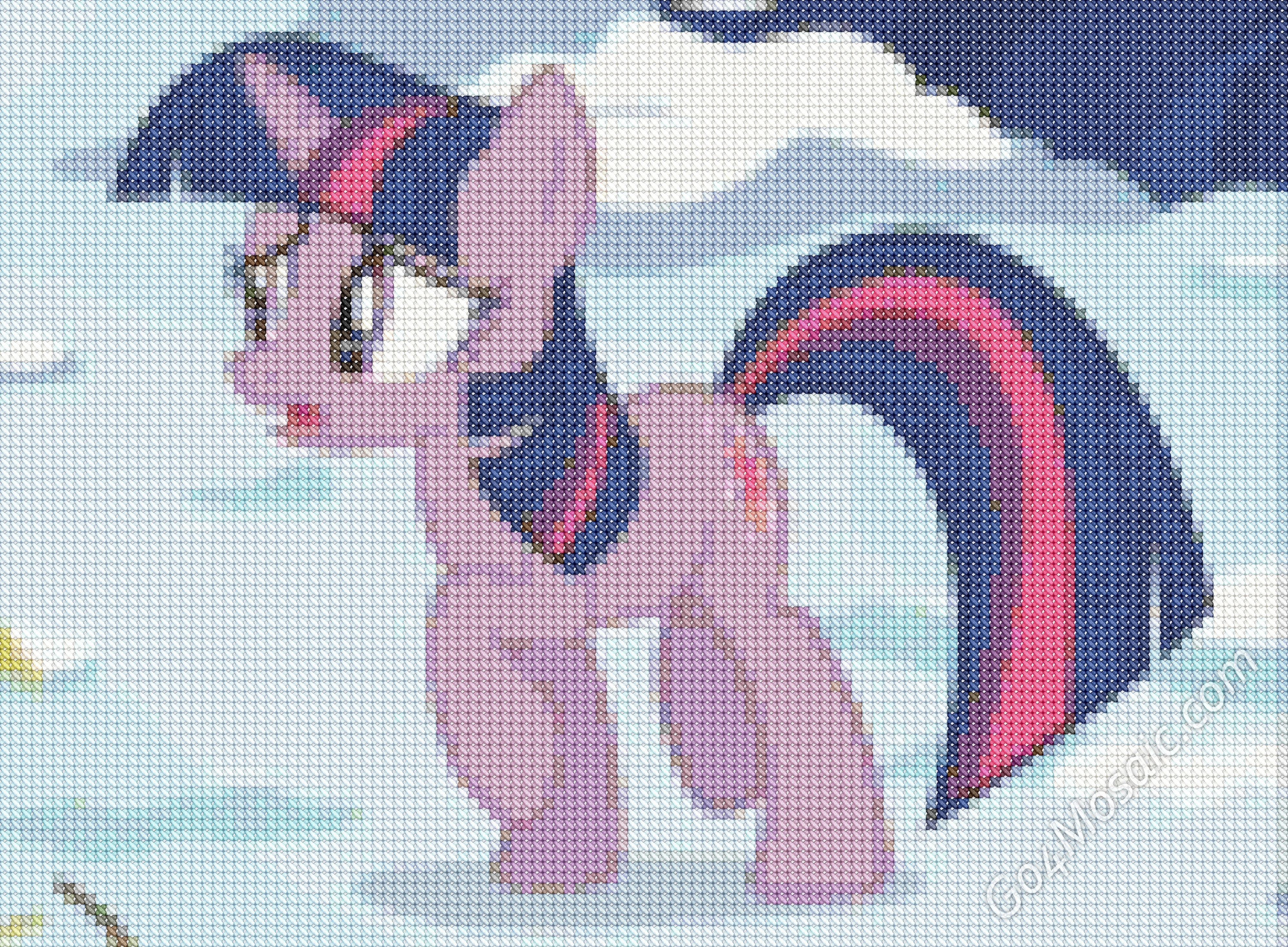 Cross-stitched Twilight Sparkle mosaic