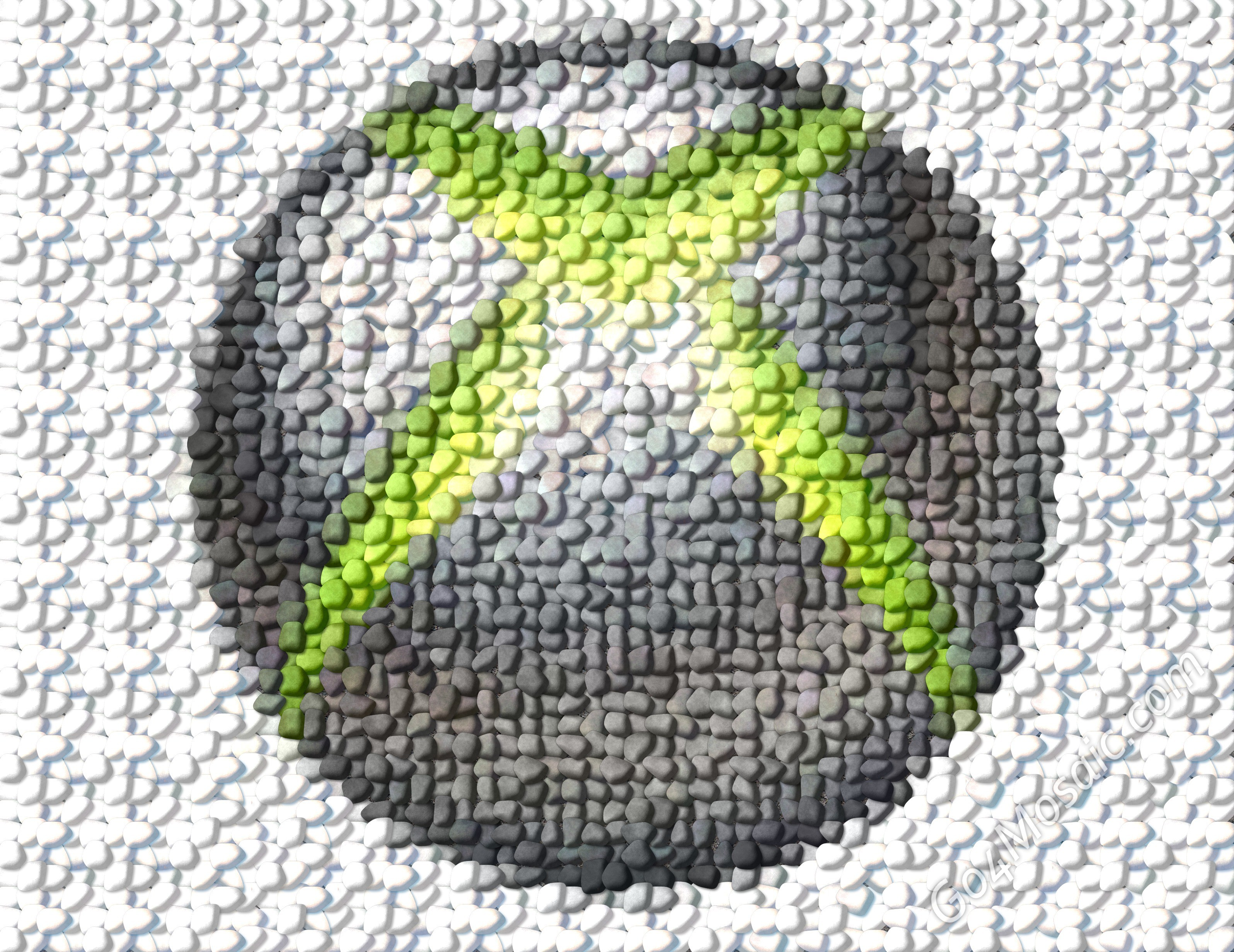 Xbox 360 logo from Pebbles