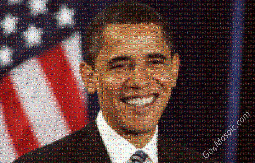 Barack Obama mosaic from Flags