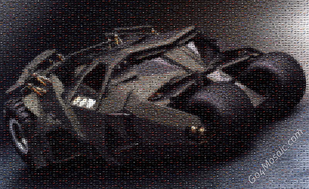 Batmobile mosaic from Cars