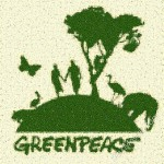Greenpeace mosaic from Leaves