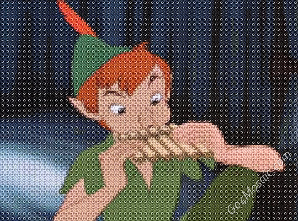 Cross-stitched Peter Pan