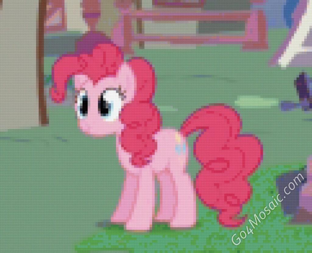 My Little Pony: Pinkie Pie mosaic from 11858 Lego Bricks