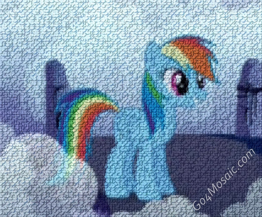 My Little Pony: Rainbow Dash mosaic from Pebbles