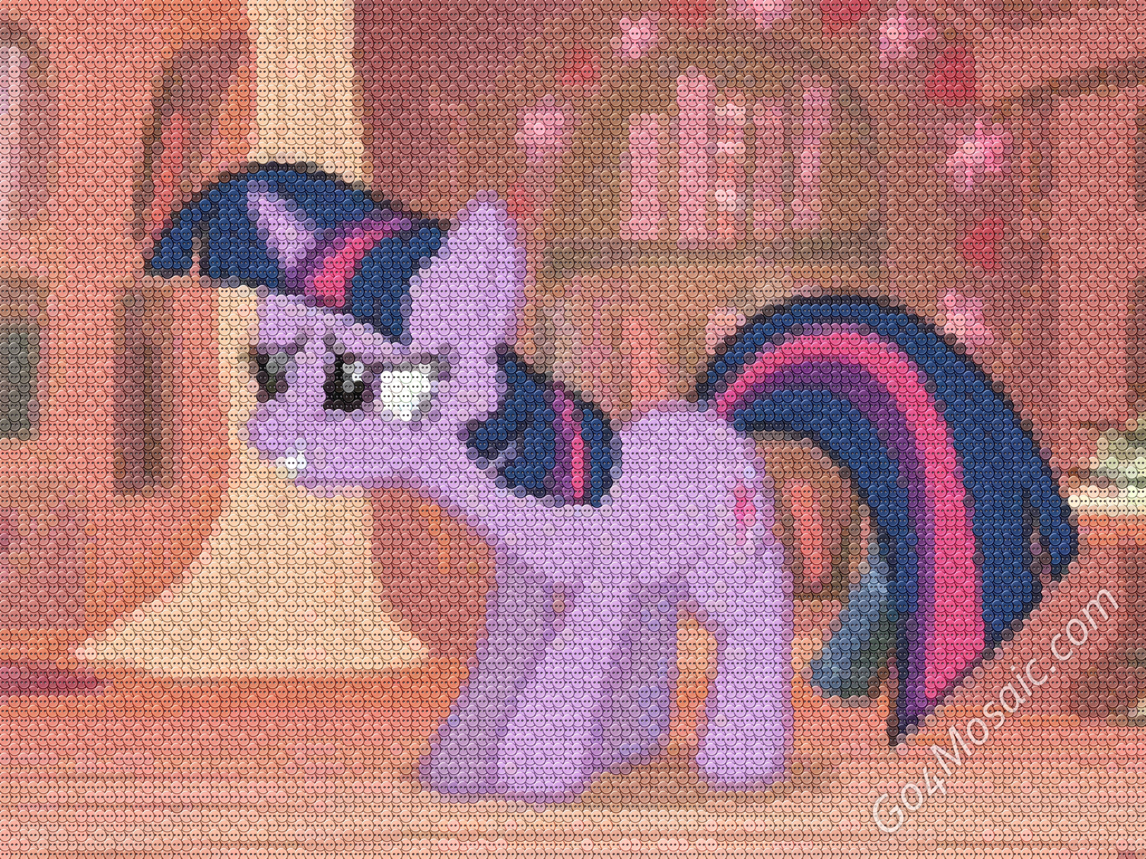My Little Pony: Twilight Sparkle mosaic from Buttons