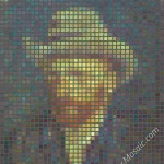 Vincent van Gogh mosaic from postits 3600px