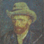 Vincent van Gogh mosaic from postits 6000px