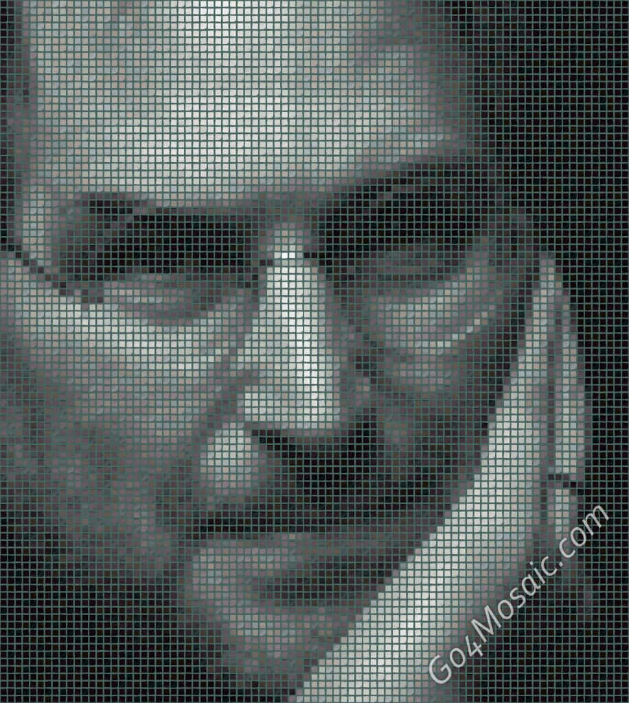 Steve Jobs mosaic from Postits