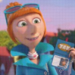 Despicable Me 2. Lucy cross-stiched mosaic