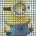 Despicable Me 2. Minion Stuart mosaic from postits