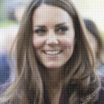 Cross-stitched Kate Middleton mosaic
