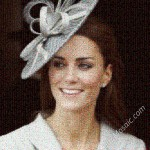 Kate Middleton mosaic from flags