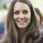 Kate Middleton mosaic from Leaves