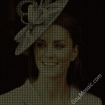 Kate Middleton mosaic from matrix