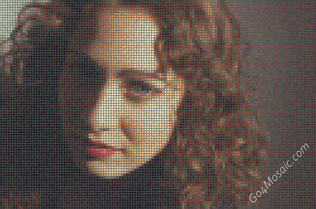 Regina Spektor mosaic from postits