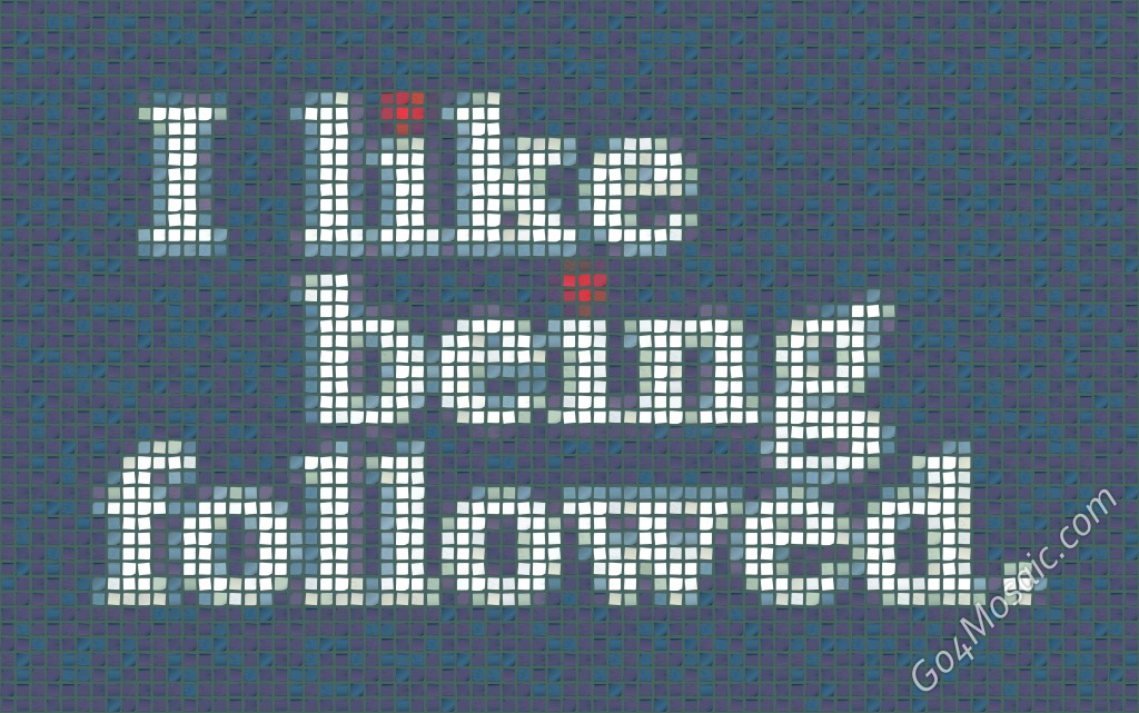 I like being followed mosaic from Postits