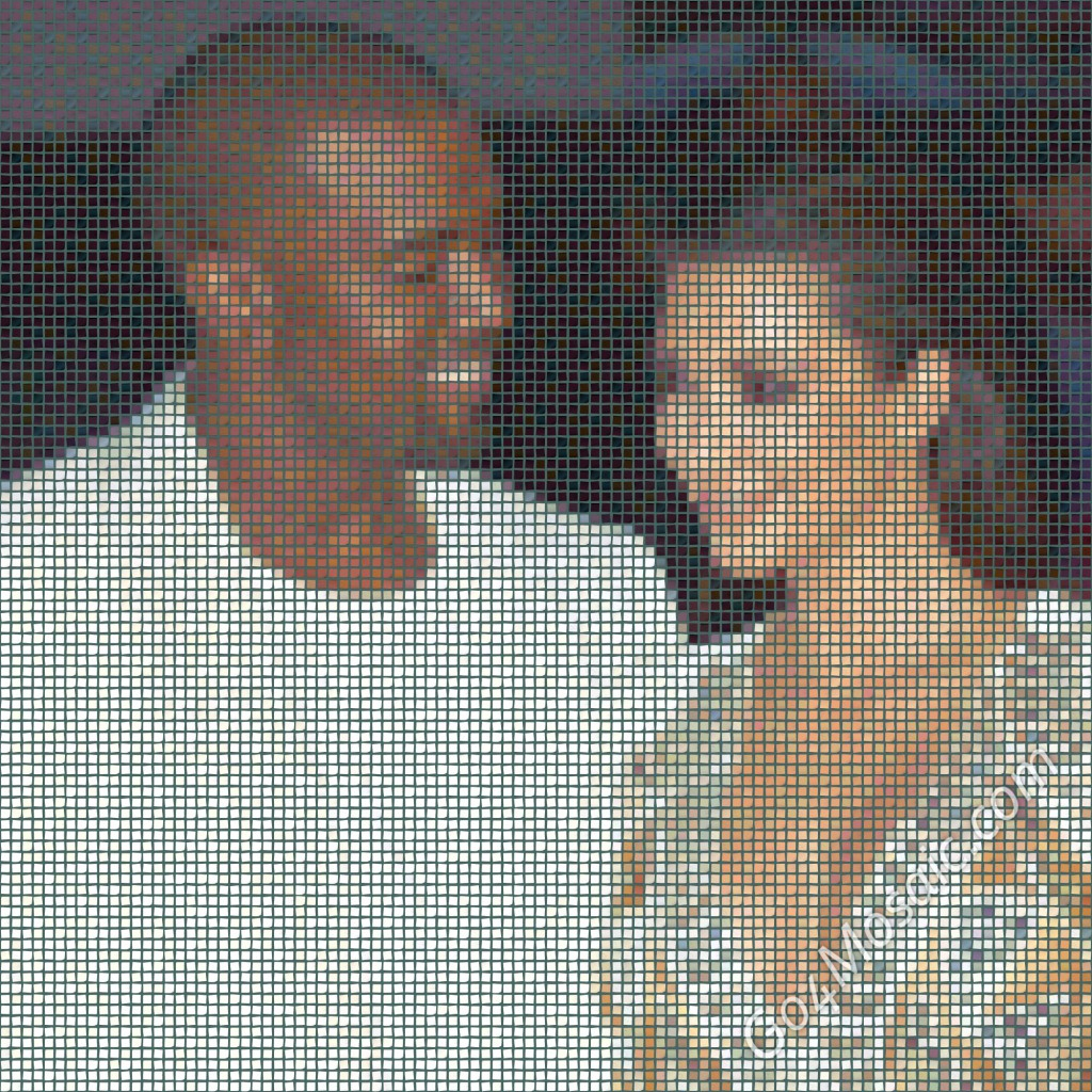 Kim Kardashian and Kanye West mosaic from 10.000 postits
