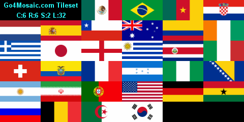 Custom tileset - Flags of the countries participating in the 2014 FIFA World Cup in Brazil