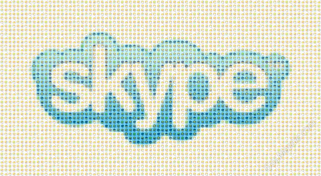 Skype Logo mosaic from 3520 Smileys