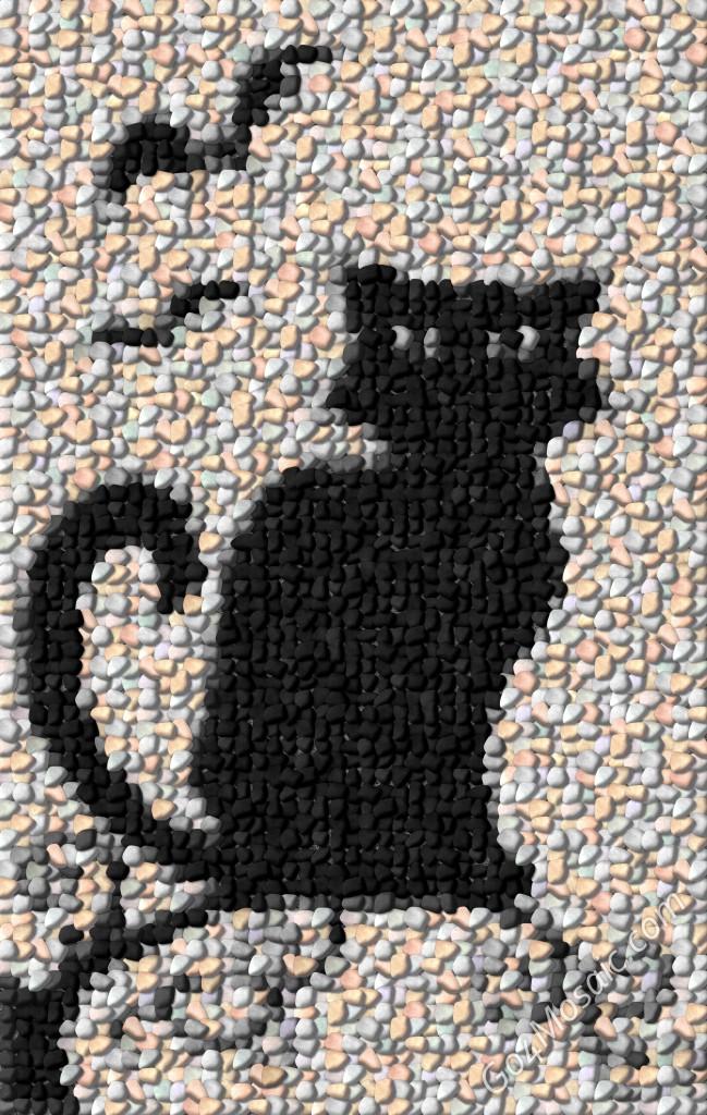 Black Cat Mosaic From 3195 Pebbles Go4mosaic Blog