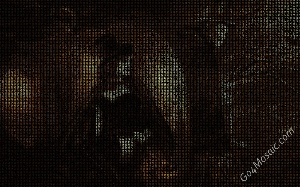 Witch mosaic from Matrix Letters