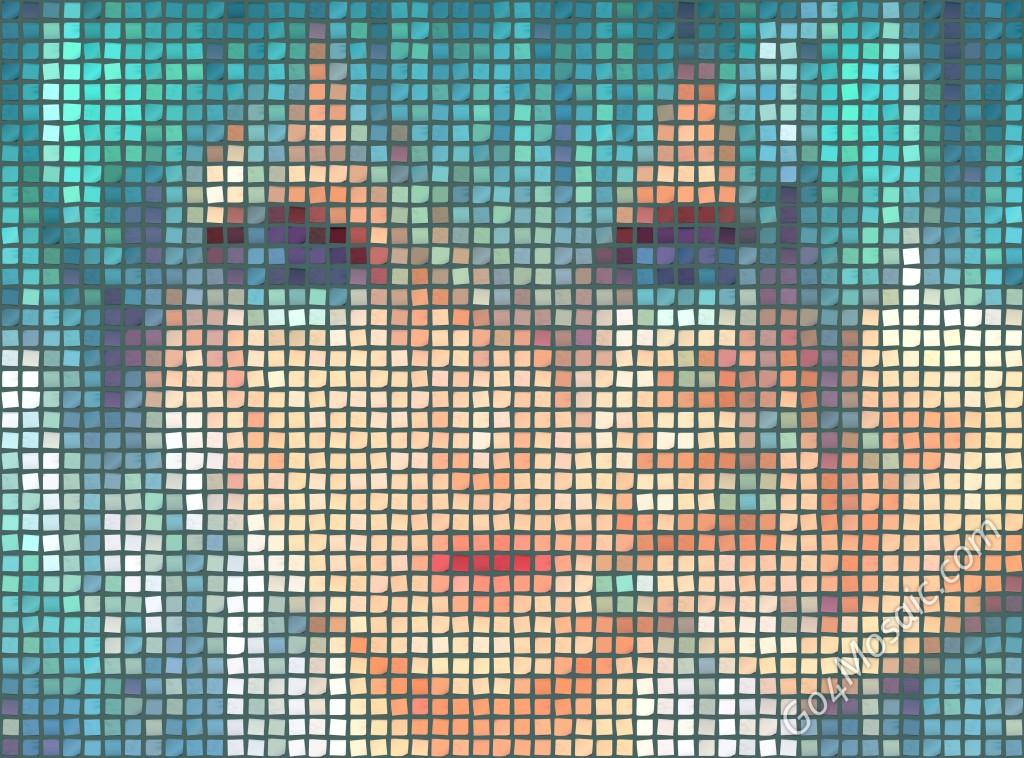 Hatsune Miku mosaic 4000px